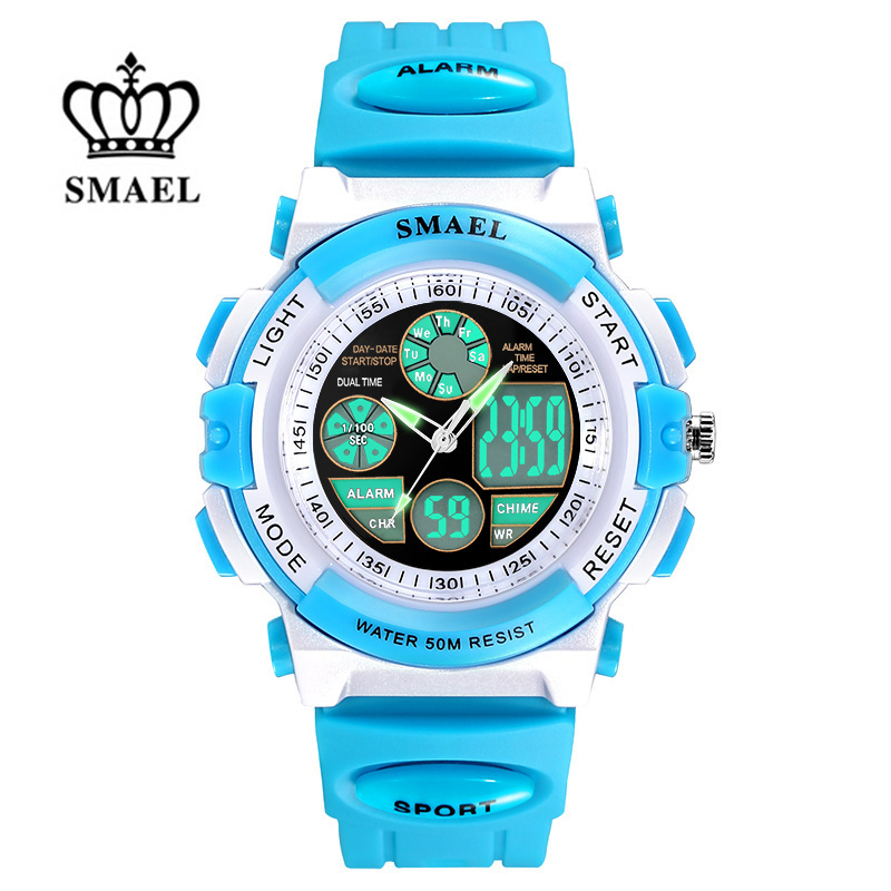 Cool Kids Watches Boys Clock Led Digital 50 Waterproof Sport Wristwatches With Gift Box Cartoon Watch Children S Gifts Ws0704a In Children S Watches From Watches