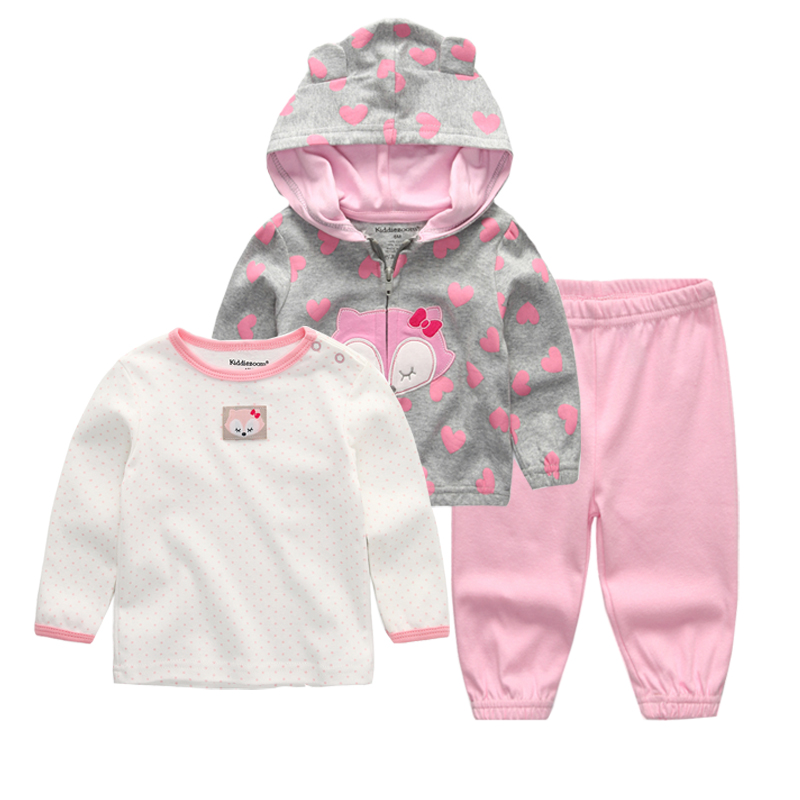 2018 Next baby clothing set 3PCS hoodie+T-shirt+pants ropa bebe 12-24 months O-neck cotton infant costumes baby boy girl clothes cutelee newborn soft cotton baby romper o neck costumes long sleeve baby girl boy rompers baby clothing ropa next baby jumpsuit