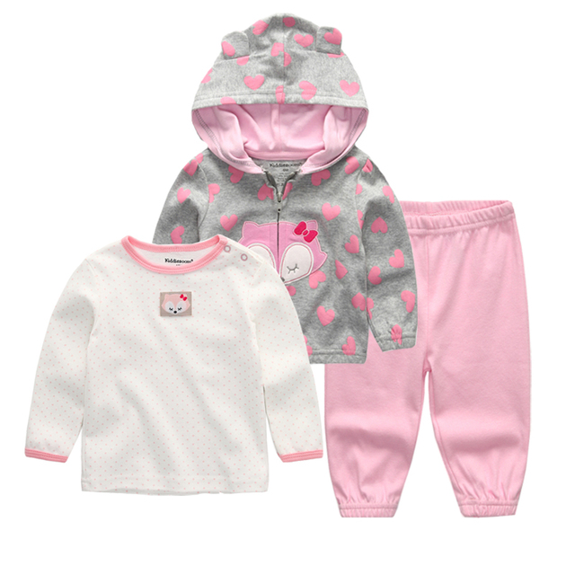 9be69172bb 2018 baby clothing set 3PCS hoodie+T shirt+pants ropa bebe 12 24 ...