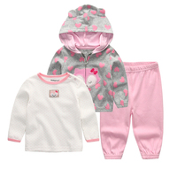 2018 Baby Clothing Set 3PCS Hoodie T Shirt Pants Ropa Bebe 12 24 Months O Neck