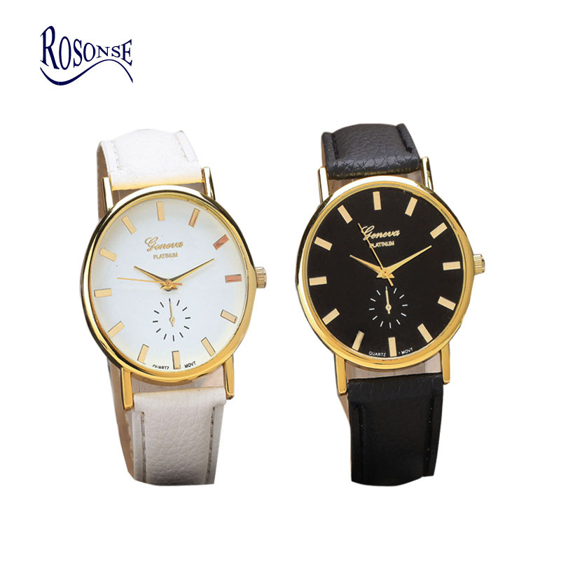 Rosonse 2015 women leather band quartz watch top brand ladies girls fashion analog watches for Watches brands for girl