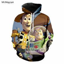 Historieta Toy Story lindo Woody Buzz Lightyear 3D imprimir chaqueta  hombres mujeres Streetwear Hoodies sudaderas niños Tracksui. 2e0055d0da1