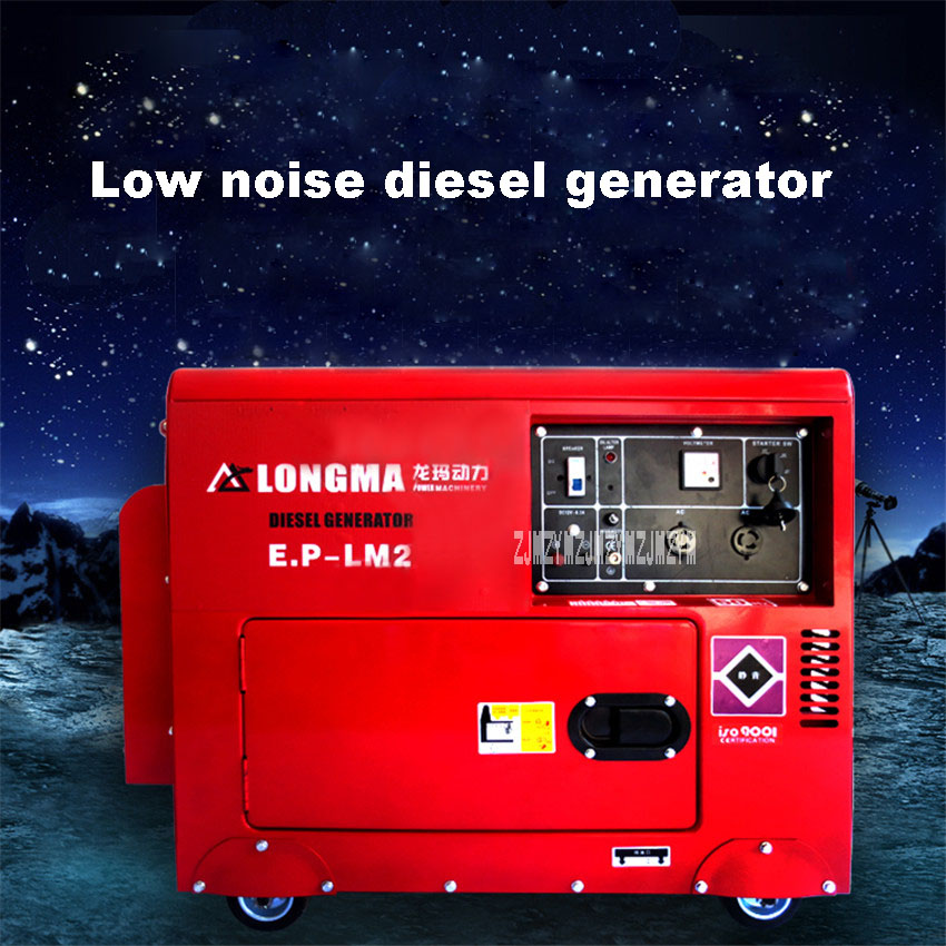 New Arrival Small Household Diesel Generator Electric Start Diesel Generator 5.5KW Single Phase 220V/ Three Phase 380v Hot Sale fast shipping 6 pins 5kw ats three phase 220v 380v gasoline generator controller automatic starting auto start stop function