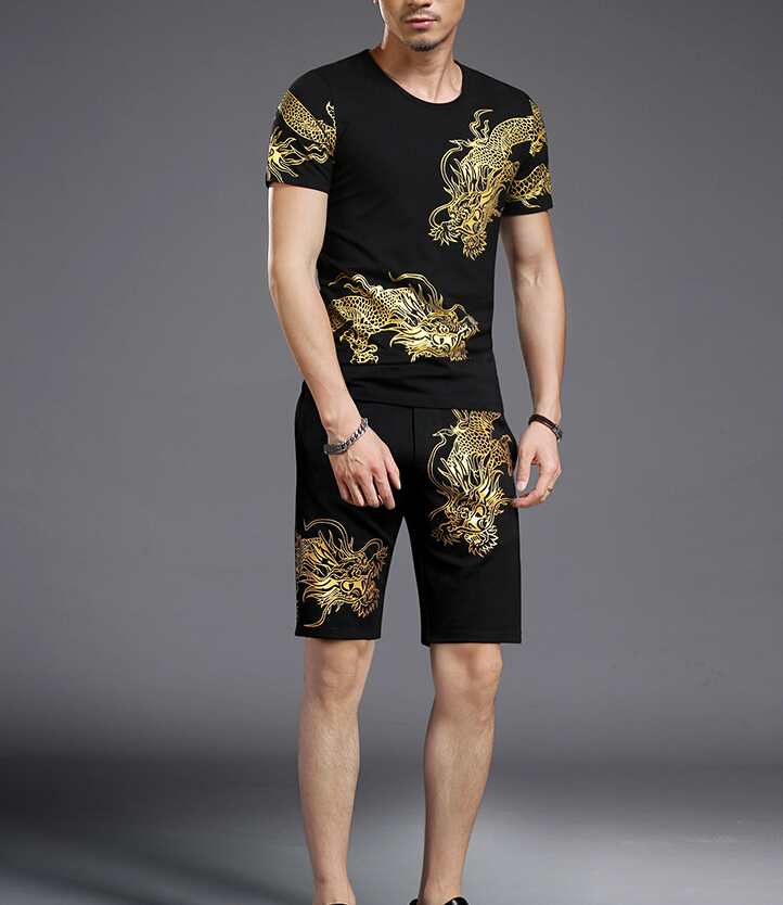 2018 Summer Tracksuit Set Short Sleeve Casaul Men S952