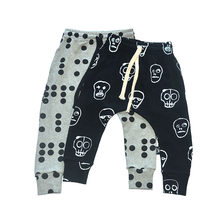 2c5b0d281fad8 Beilei Creations Boys Girls Pants Cotton Skull Dot Print ninini 2019  Trousers Boys Harem Pants Children