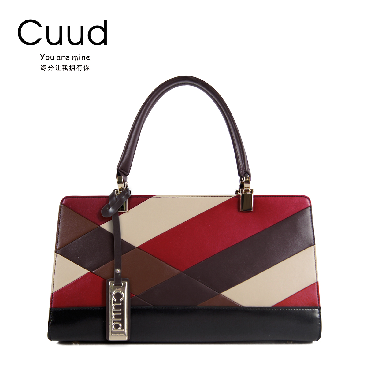 Cuud bag women 2017 new European and American tide brand color bag women's fashion handbag women's leather killer bag yuanyu 2018 new hot free shipping real python skin snake skin color women handbag elegant color serpentine fashion leather bag