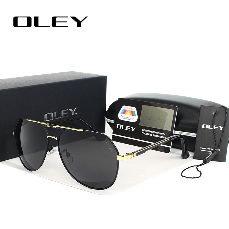 OLEY 100% Polarized sunglasses lenses Alloy frames color film pilots - Apparel Accessories