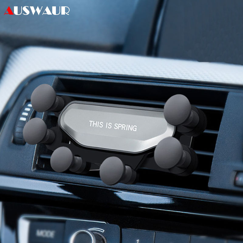 Gravity Car Mount Mobile Phone Holder For Huawei P30 Pro Universal Bracket Air Vent Clip Mount Car Holder GPS Stand For IPhone X