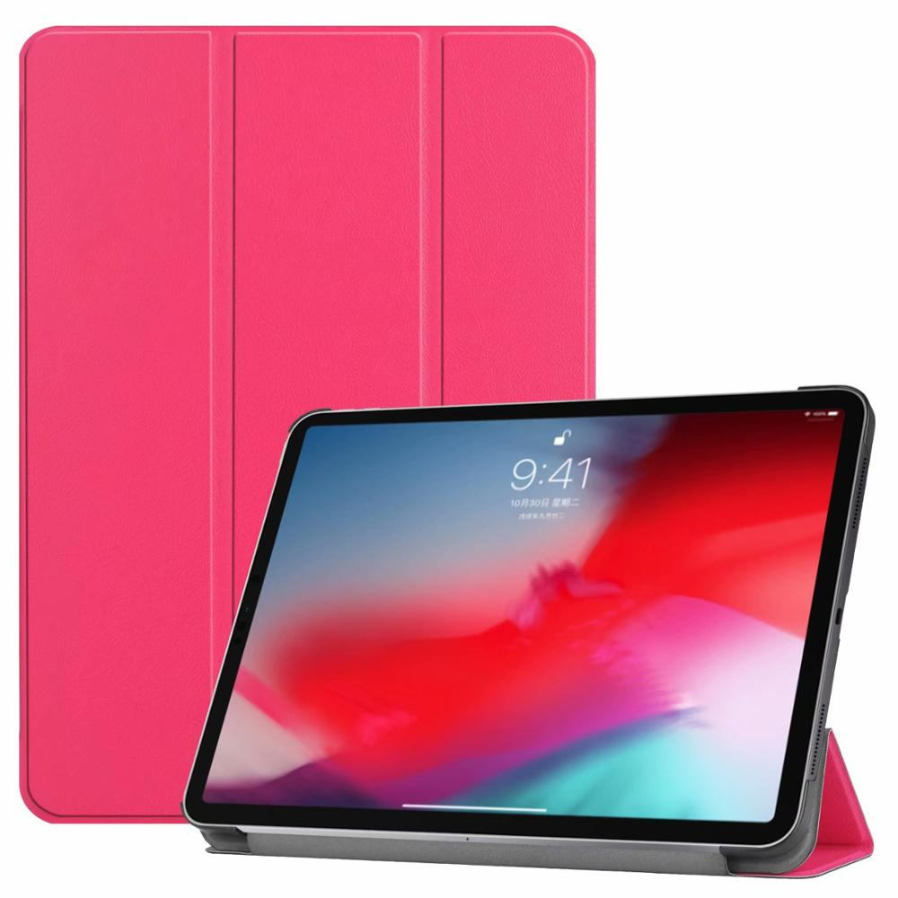 Rose red iPad Pro3 11 2018 smart case with different patterns