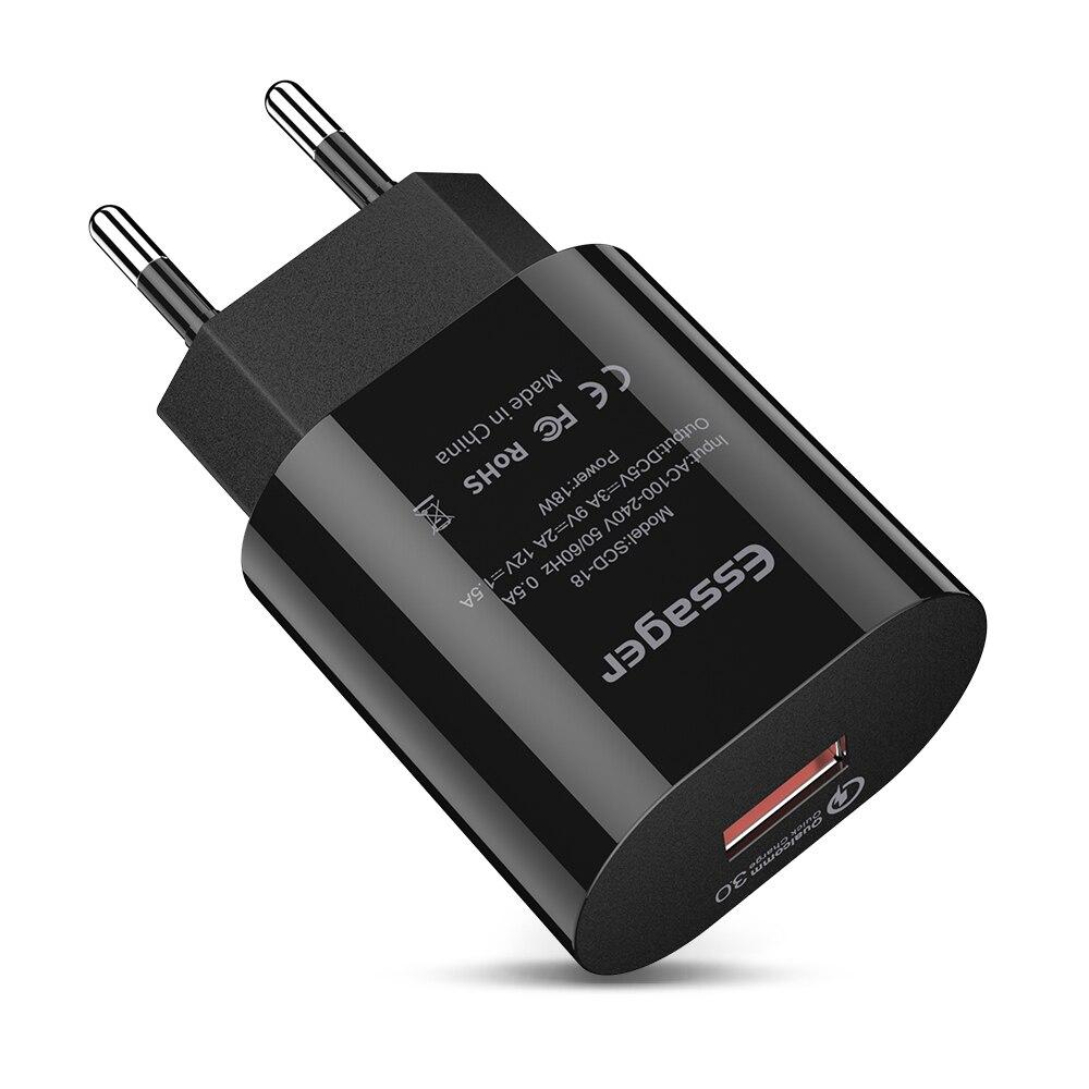 Essager Adapter Usb-Charger Eu-Plug Huawei IPhone Q-C3.0 Xiaomi