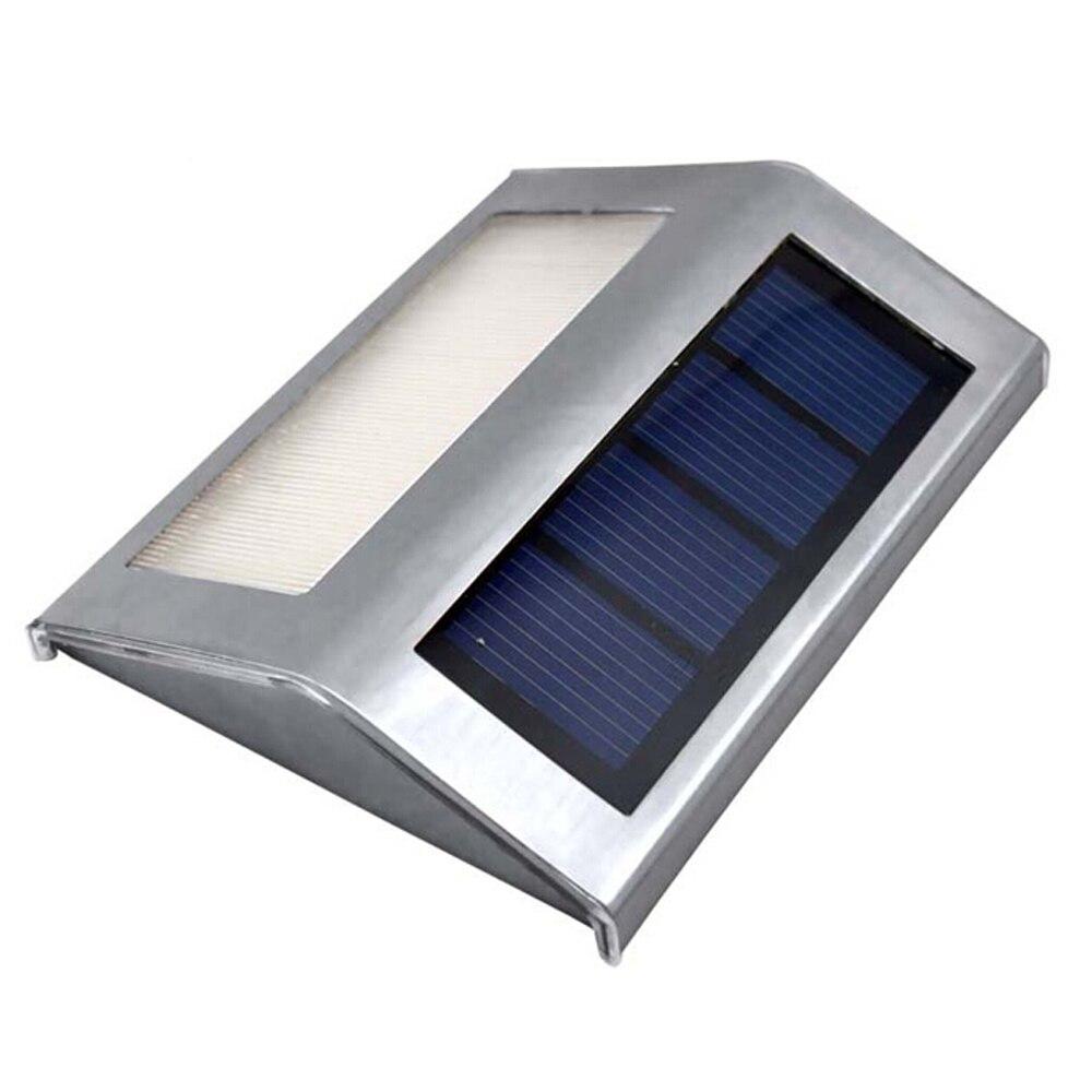 lowest price 1-4pcs 3 LEDs Solar Light Stainless Steel Solar Power Garden Light Waterproof Outdoor Energy Saving Courtyard Lamp Lighting