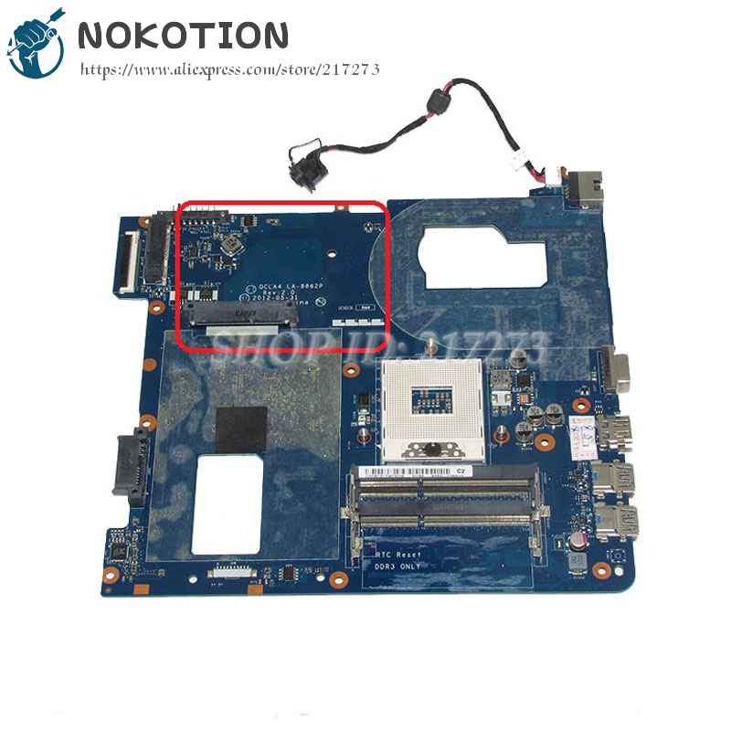 NOKOTION For Samsung NP350 NP350V5C 350V5X Laptop Motherboard QCLA4 LA-8862P SJTNV HM70 DDR3 with Free CPU fit for samsung np350 np350v5c 350v5x laptop motherboard qcla4 la 8861p ba59 03541a ba59 03397a ddr3 hd 7600m gpu 100