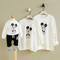 Christmas Sweaters Family Clothes Matching Mother Son Outfits Pajamas Mickey Mouse T Shirt Mommy Baby Minnie