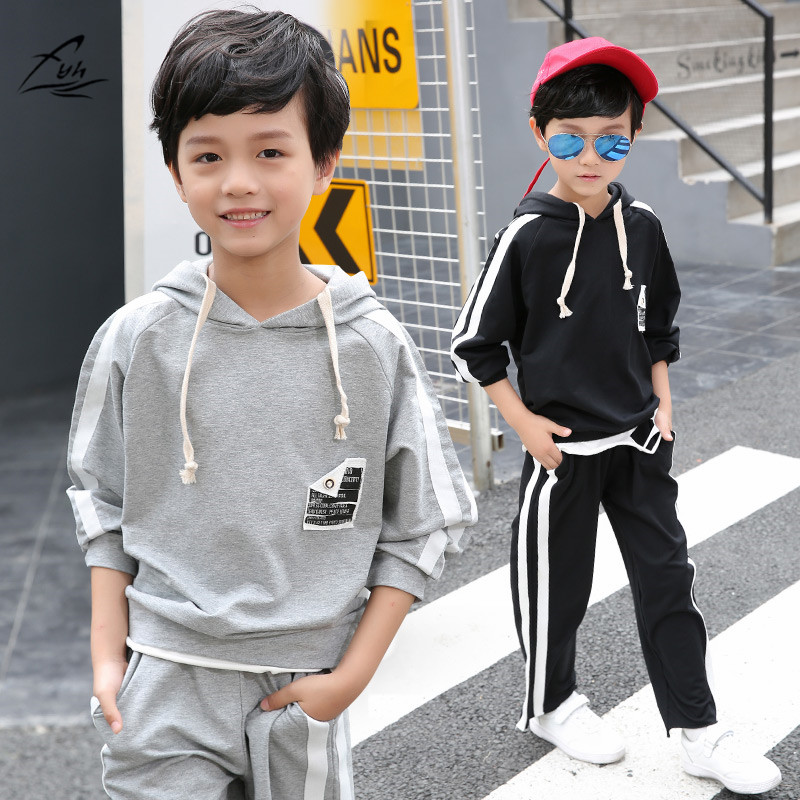 FYH Kids Clothes School Boys Spring Autumn Suit Teenagers Tracksuit Children Clothing Set Boys Casual Long Sleeve Hoodies+Pants kids clothes autumn winter boys gold velvet clothing set school children warm thicken sport suit fashion kids tracksuit