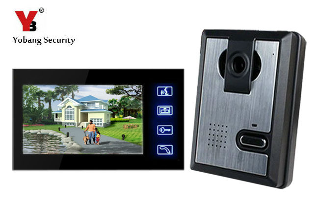 Yobang Security 7 touch Video Intercom Door Phone System video door phone for villa doorbell IR Camera Monitor Night Vision yobang security 7 inch video door phone visual doorbell doorphone intercom kit with metal villa outdoor unit door camera monitor