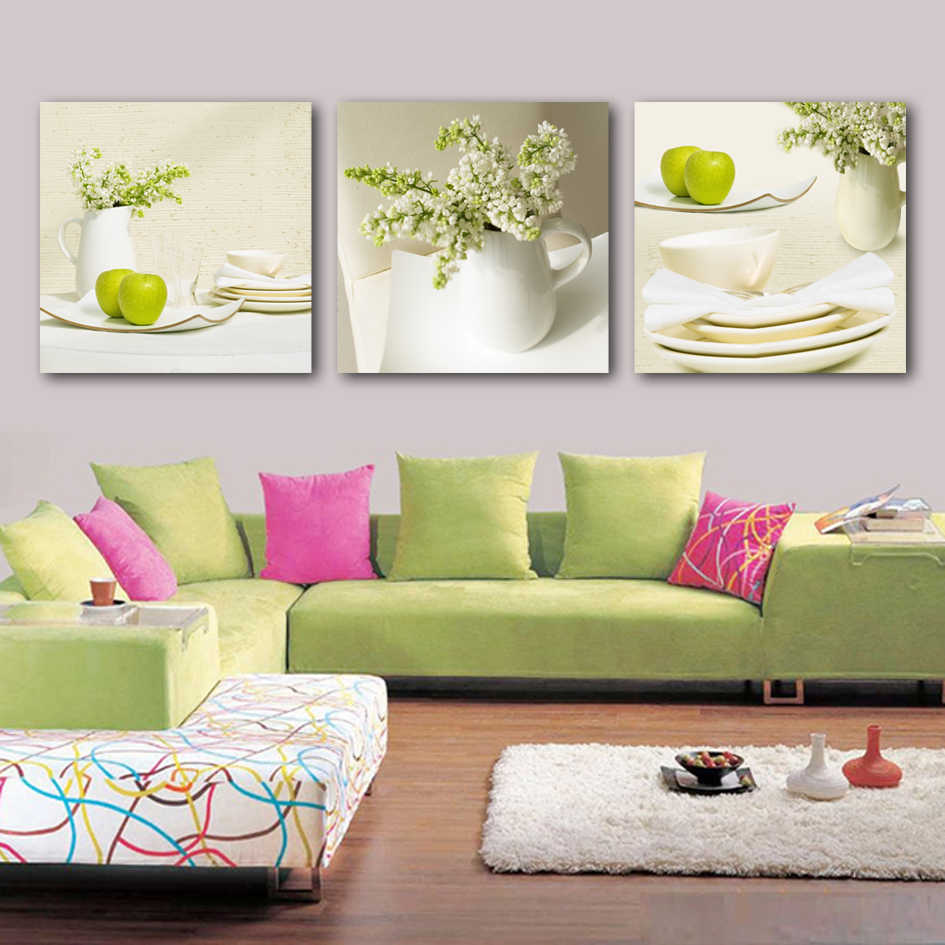 3 Panel Posters Beautiful vase flowers Picture Painting On The Wall Modular Pictures HD Print Canvas Oil Paintings  2011A-003