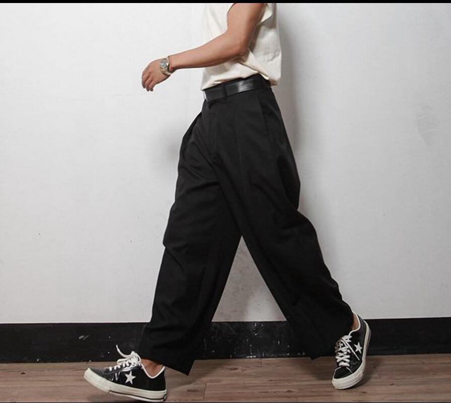 4xl 2017 Fashion Casual Wide Leg Pants Men Size