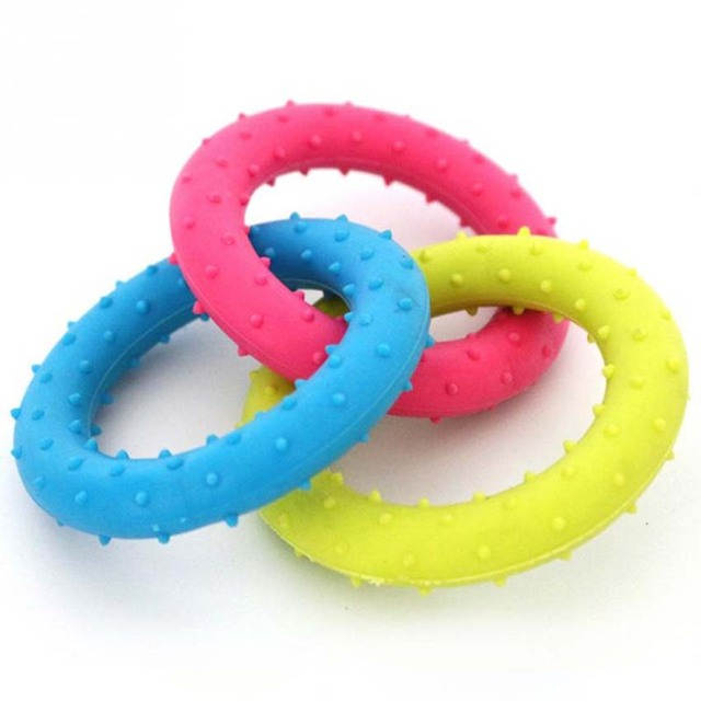 3PC/Set Dog's Toys Pet Training Products Pets 3 Color Round Ring TPR Rubber Toys Resistance to bite For pet dogs FreeShipping