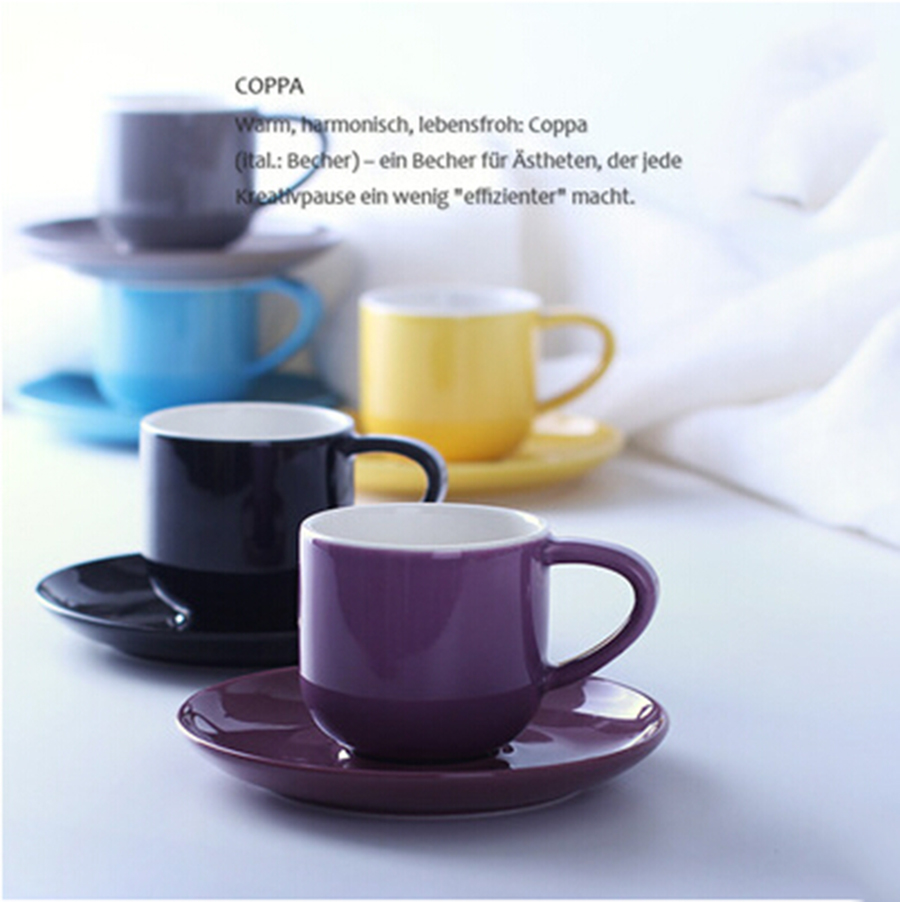 new and nice colorful mugs quality small coffee cups ml fresh  - new and nice colorful mugs quality small coffee cups ml fresh one pieceespresso cup with saucer free shippingin mugs from home  garden on