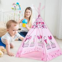 165*100cm Present Playhouse Children Teepee Tent Pink Princess Castle Play Tent Kids Children Girls Tent House Birthday Gift