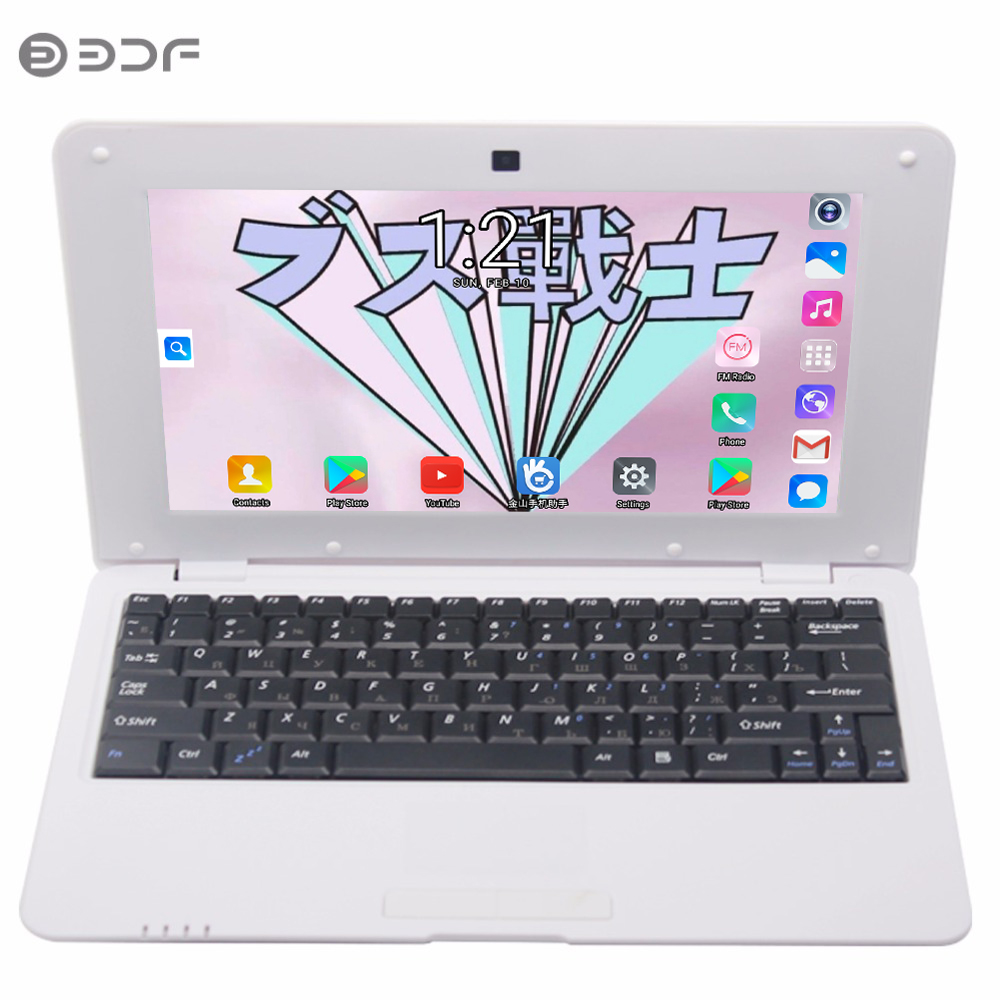 BDF 2019 New Notebook 10.1 Inch Fashion 1GB/8GB Laptop Inch Quad Core Android 6.0 7029 1.5GHZ Wi-Fi Mini Netbook 7 8 9 10