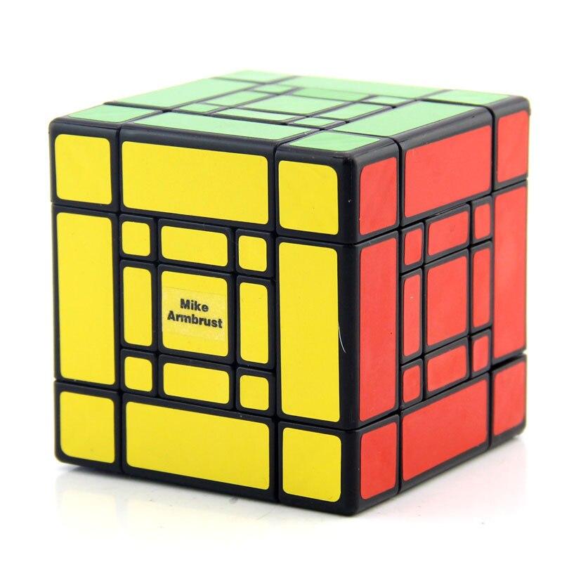 MF8 Mère et Fils Doulbe 3x3x3 puzzle de cubes Noir Autocollant Cubo jouets magiques Pour Enfants Étrange Forme Twisty cube Fils-Maman - 3