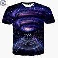 Mr.1991 marca estilo del verano t shirts boy ambos lados galaxy sinfonía conductor 3D Más tamaño niñas camiseta Elder niños tops X21