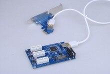 НОВЫЙ сад в карты PCIe 1 до 3 PCI express 1X слота Riser карты Mini ITX на внешние 3 PCI-e слот адаптер PCIe Port Multiplier Карты
