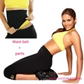 VSIHZ Pants and waist Belt  HOT Super stretch neoprene pants set Women's Slimming Sets women corsets body shaper