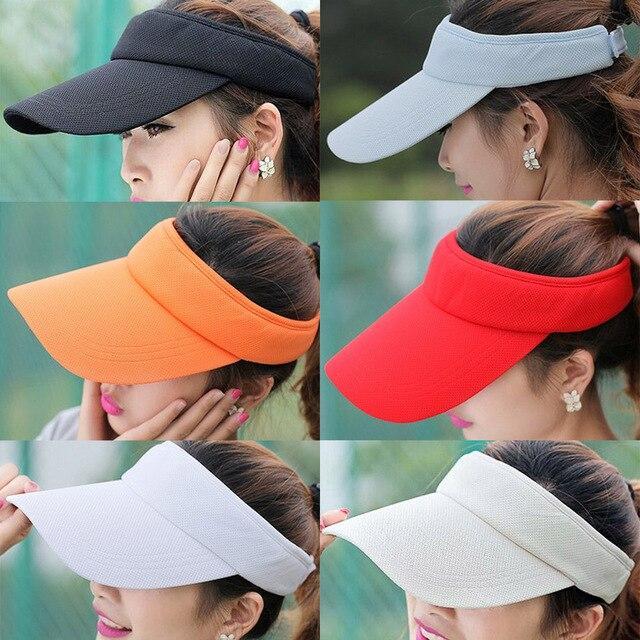 Men Women Wide Brim UV Protective Visor Cap Outdoor Tourism Tennis Golf Sun  Hat HATCS0037 b0be2953d43