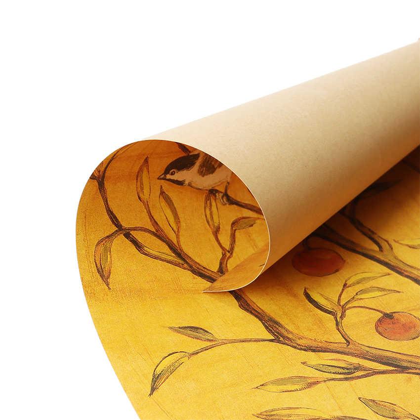 עניבת טיט מזל עץ קראפט נייר בר פוסטר בית תפאורה קיר מדבקות דקורטיבי ציור 70.5X35cm