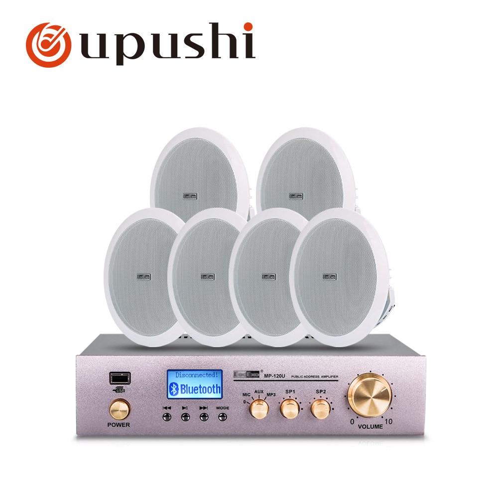 Freundschaftlich Power Verstärker Und Decke Lautsprecher Paket Kits 2 Kanäle Bluetooths Control Öffentlichen Adresse System Attraktiv Und Langlebig