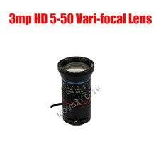 3 Megapixel HD 1/2.7″ 5-50mm Auto Iris Manual Varifocal CS Mount CCTV Lens F1.4 for Analog / IP Camera Free Shipping