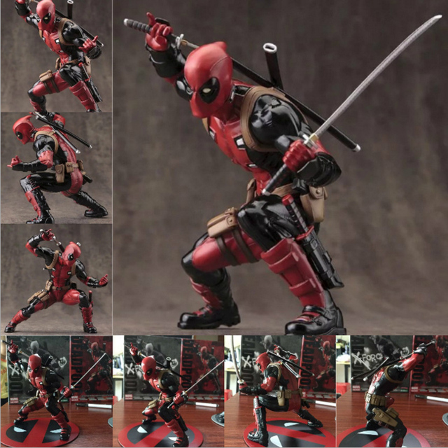 Elegant Anime Collection Garage Kit Figures Collectible Bobblehead Deadpool Toys  Table Decorations Pvc Hard Gift Dolls Figure