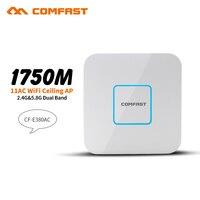 1750 Мбит/с беспроводной потолок AP маршрутизатор 5,8 Г + 2,4 г 802.11AC Gigabit LAN wi fi точка доступа AP wi fi маршрутизатор 48 В POE адаптер dd openwrt