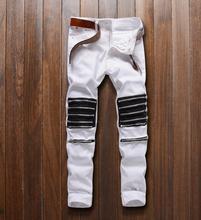 Heißer Verkauf Mens Koreanischen Designer rot und weiß Slim Fit Jeans Punk Kühlen Super Dünne jean dünne design