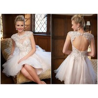 2e690a7ed9 Sexy Open Back Ball Gown Short Woman Prom Dresses Appliques Luxury Gowns  Graduation Homecoming Dress Ruched