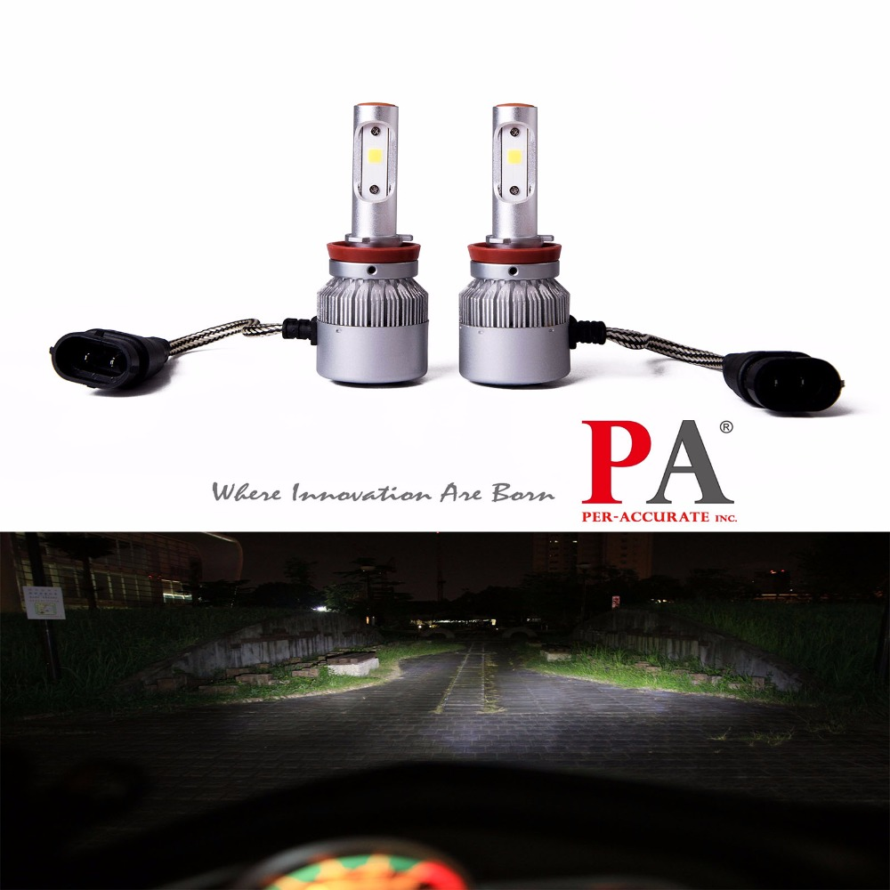 PA LED 1SET x Universal Car Headlight H8 H9 H16J 60W COB LED Headlight Fog Light Bulb Kit Xenon White 9-32V 2pcs set 72w 7200lm h7 cob led car headlight headlamp auto lamps led kit 6000k headlight bulb light car headlight fog light