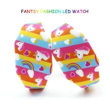 Новые Мультяшные детские часы, милые резиновые Светящиеся светодиодный часы для девочек, детские электронные часы для студентов, детские часы, Reloj Infantil Saati