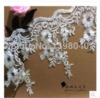 Applique Free shipping height  16cm ivory white  lace accessories big promotion  for dress wedding dress skirt DIY accessory