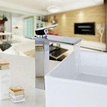 Torayvino современные улучшенный доставленных Ванная комната смеситель хромированное покрытие на бортике горячей и холодной воды Кухня смеситель