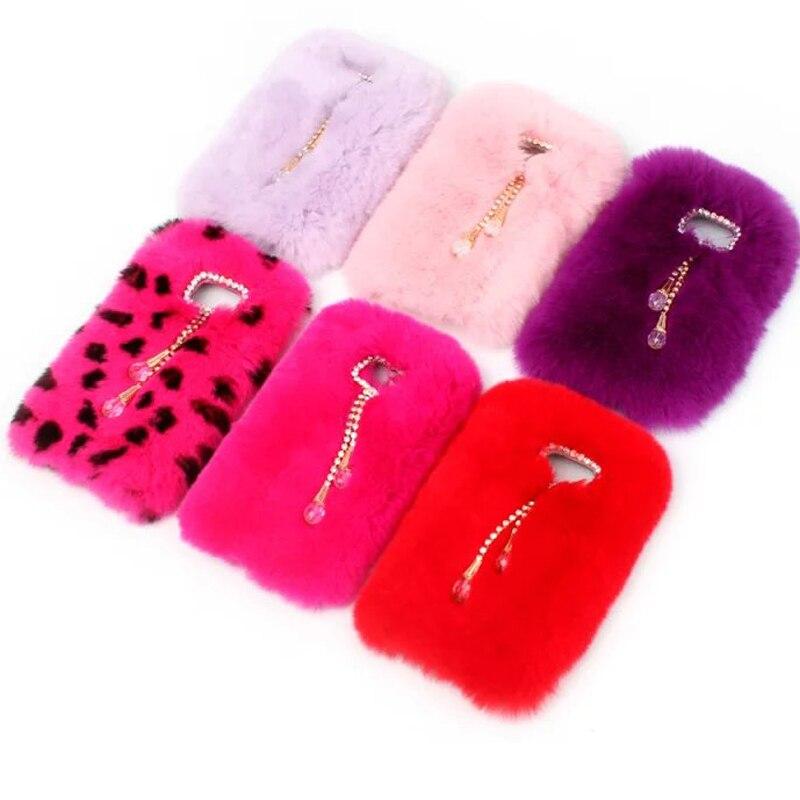 timeless design fbe6f 9f4fe US $13.99 |For Galaxy S6 Edge Rabbit Fur Case Genuine Animal Hair Case For  Samsung Galaxy S6 Edge G9250 with Diamond Rhinestone Tassels on ...
