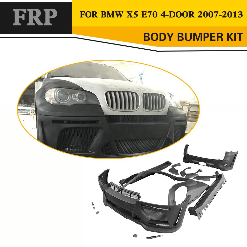 FRP Unpainted Auto Car Body kit styling Kits For BMW E70 X5 2008-2013