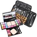 Makeup Palette Combo + 12pcs Makeup Brushes eyeshadow blush lip gloss Contour Brush Make Up Set Cosmetic Tool with Bag