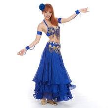 Womens New Belly Dance Costumes Bra Belt Set Indian Dancing Dress Clothes