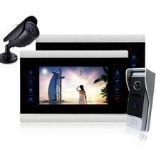Intecom Homefong 10 pulgadas de video teléfono de la puerta con cable de vídeo portero sistema de intercomunicación video de la puerta de la cámara del teléfono de la puerta llamada