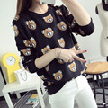 New arrive 2016 Knitted Women Sweater Pullover Winter Cartoon bear warm sweater Long Sleeve Casual Lady Sweater tops pullover