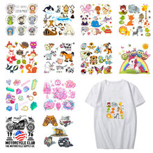 Animals Patches Iron On Transfers For Clothes T-shirt Heat Transfer For Clothing iron Washable Sticker 3DDIY Accessory Appliques цена и фото