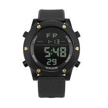 Наружный Бизнес Роскошные Мужские Аналоговые Цифровые военный армейский Спорт светодиодный водонепроницаемый электронные наручные часы Relogio Masculino