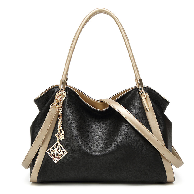 Bolso Mujer Negro Fashion Hobos Women Bag Ladies Brand Leather Handbags  Spring Summer Casual Tote Bag c424177361d90